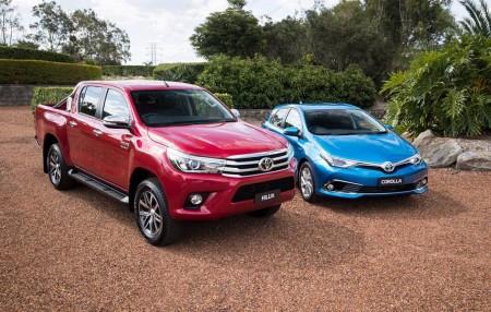 Australia - Julio 2017: Toyota domina con el Hilux y el Corolla