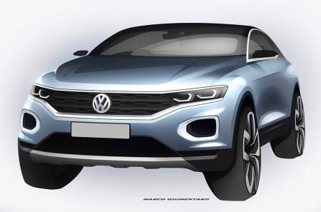 Bocetos del Volkswagen T-ROC 2018: un interesante adelanto de su diseño