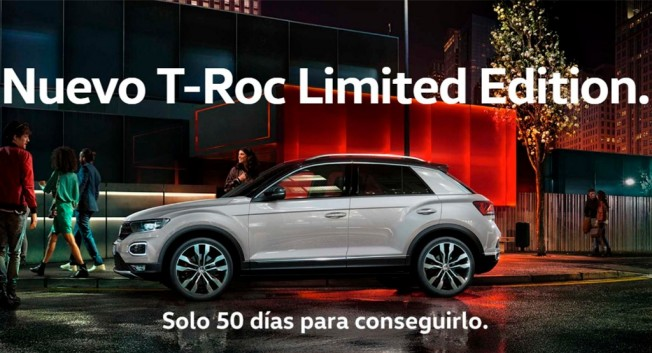 volkswagen t roc limited edition exclusivo para su compra online. Black Bedroom Furniture Sets. Home Design Ideas