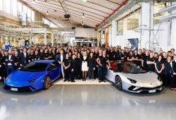 Lamborghini ya ha fabricado 9.000 unidades del Huracán y 7.000 del Aventador