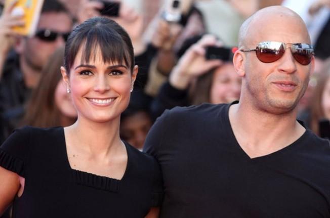 Jordana Brewster y Vin Diesel