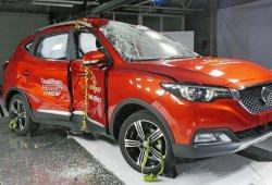 El MG XS recibe una puntuación de sólo tres estrellas en Euro NCAP
