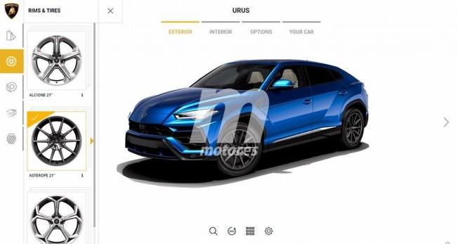 Lamborghini Urus - configurador