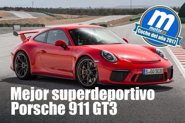 Porsche 911 GT3 - Mejor superdeportivo 2017 para Motor.es