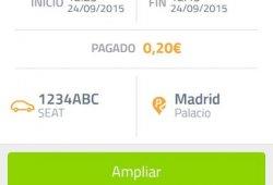 Pagar los parquímetros con el móvil ya tiene recargo en la zona SER/ORA de Madrid