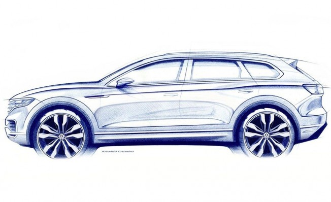 Volkswagen Touareg 2018 - boceto