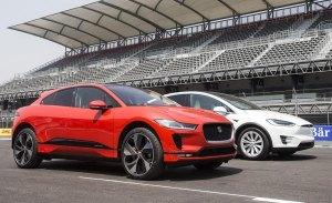 Jaguar dice que su I-Pace se merienda al Tesla Model X