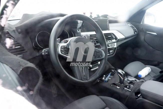 BMW X3 M 2018 - foto espía interior