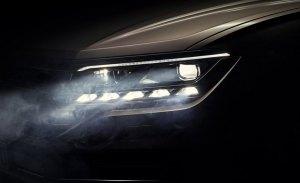 Volkswagen adelanta la presentación del nuevo Touareg con una vista de su nuevo faro