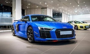 El Audi R8 V10 Plus se muestra en vivo con las Performance Parts