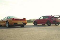 Honda Civic Type R 2017 vs Honda NSX 2005: ¿cuál es más rápido?