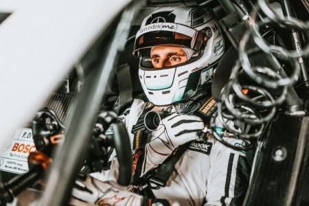 Dani Juncadella, todo orgullo en el test oficial del DTM