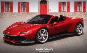 El Ferrari SP38 también luce bien con carrocería spyder