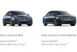 Lincoln confirma que no eliminará los dos únicos sedanes de la gama