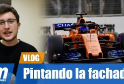 [Vídeo] Alonso y Vandoorne, pintando la fachada