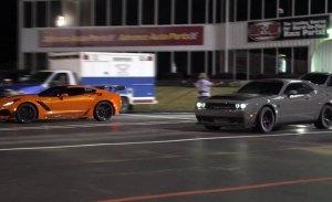 Cuarto de milla: Dodge SRT Demon vs. Chevrolet Corvette ZR1