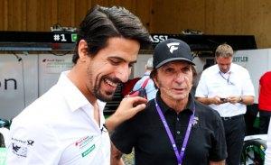 Emerson Fittipaldi prueba un monoplaza de Fórmula E