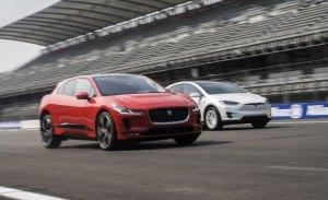 El Jaguar I-Pace frente a las versiones más potentes del Tesla Model X