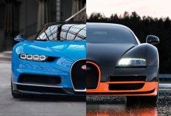 Bugatti Chiron vs Bugatti Veyron SS: duelo en el cuarto de milla