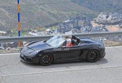 Cazamos el Porsche 718 Boxster Spyder descapotado por primera vez