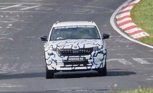 El esperado Skoda Kodiaq RS cazado en Nürburgring