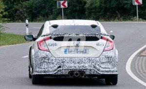 Cazamos a Honda probando un nuevo alerón trasero para el Civic Type R 2019