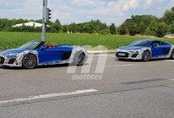 Nuevas fotos espía muestran dos prototipos de los Audi R8 Spyder y R8 Coupé en pruebas