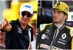 Ocon y Sainz, en el centro de los rumores del mercado de pilotos