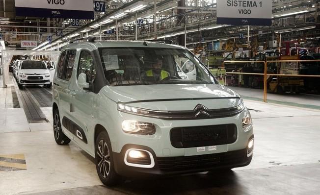 Producción de vehículos comerciales del Grupo PSA en Vigo
