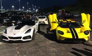 Duelo en el cuarto de milla: Ford GT vs. Chevrolet Corvette ZR1