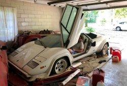 Este Lamborghini Countach lleva 20 años abandonado en el garaje de su abuela