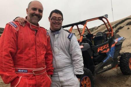 Lucas Barrón, copiloto con Síndrome de Down, al Dakar