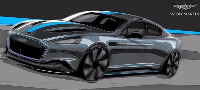 Boceto del Aston Martin RapidE