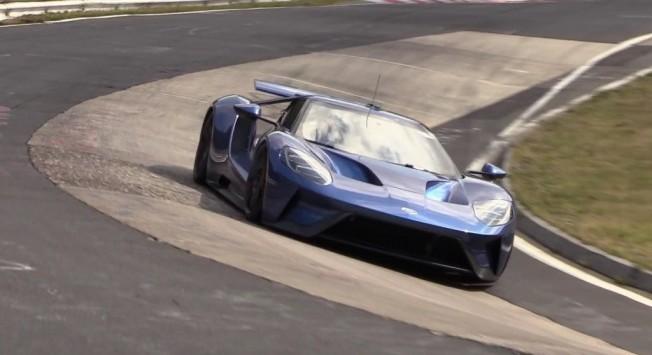 El Ford Gt  Cazado A Fondo En Nurburgring Intento De Record