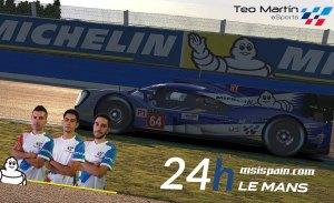Teo Martín eSports está listo para enfrentarse a las 24 Horas de Le Mans