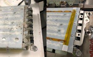 """El supuesto """"saboteador"""" de Tesla revela las fotos de las baterías dañadas"""