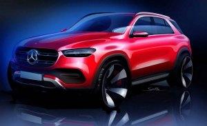 Mercedes desvela el diseño del nuevo Clase GLE con un boceto