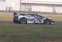 Misterioso prototipo del Ferrari FXX K Evo avistado en Fiorano