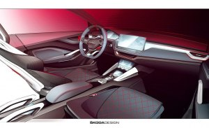 Skoda adelanta el interior del Vision RS, el concept car que veremos en París