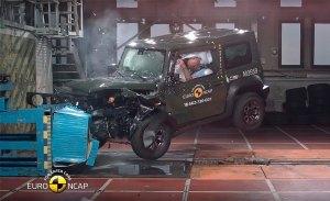 Malas noticias para el nuevo Suzuki Jimny, solo obtiene 3 estrellas Euro NCAP