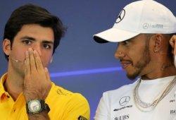"""Sainz: """"La forma en la que ha pilotado Hamilton este año es especial"""""""