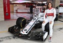 """Tatiana Calderón se estrena en un F1: """"Algunas cosas son más sencillas que en un GP3"""""""
