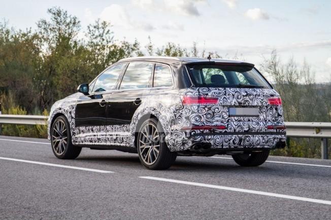 Audi SQ7 2019 - foto espía posterior