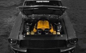 Ford Mustang Corruptt: un Mustang clásico con un V8 Ferrari de doble turbo