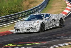 Los prototipos del Chevrolet Corvette C8 en aceleración [vídeo]