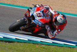 Danilo Petrucci arranca al mando del test de MotoGP en Jerez