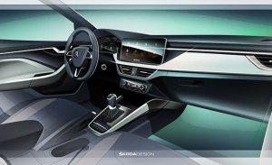 Skoda adelanta el interior del Scala, su nuevo compacto que llegará en 2019