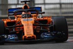 Sainz, el McLaren MCL33 y los consejos de Alonso durante el test de Abu Dhabi