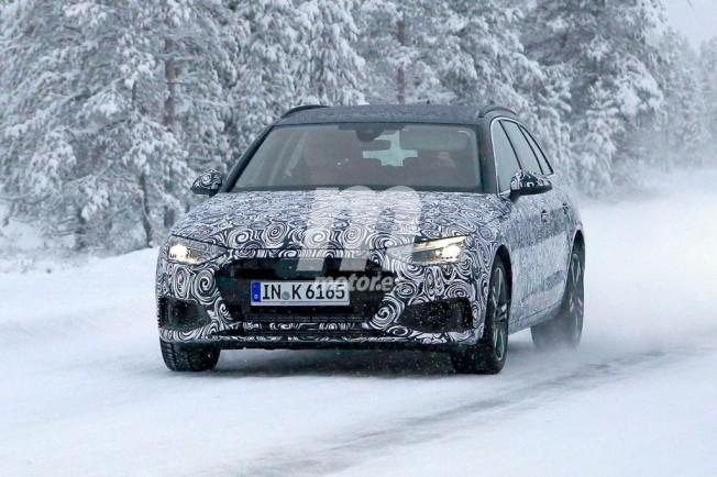 Audi A4 Avant 2020 - foto espía frontal