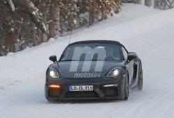 Nuevas fotos espía muestran al Porsche 718 Boxster Spyder en las pruebas de invierno